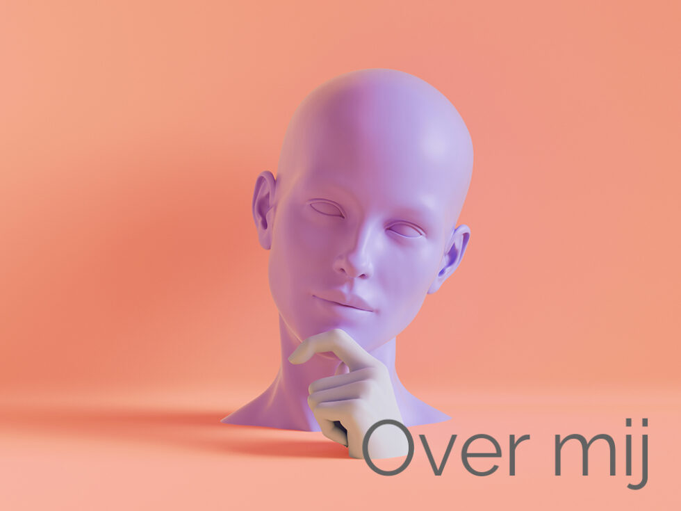 3d render, female mannequin head, hand, fashion concept, isolate