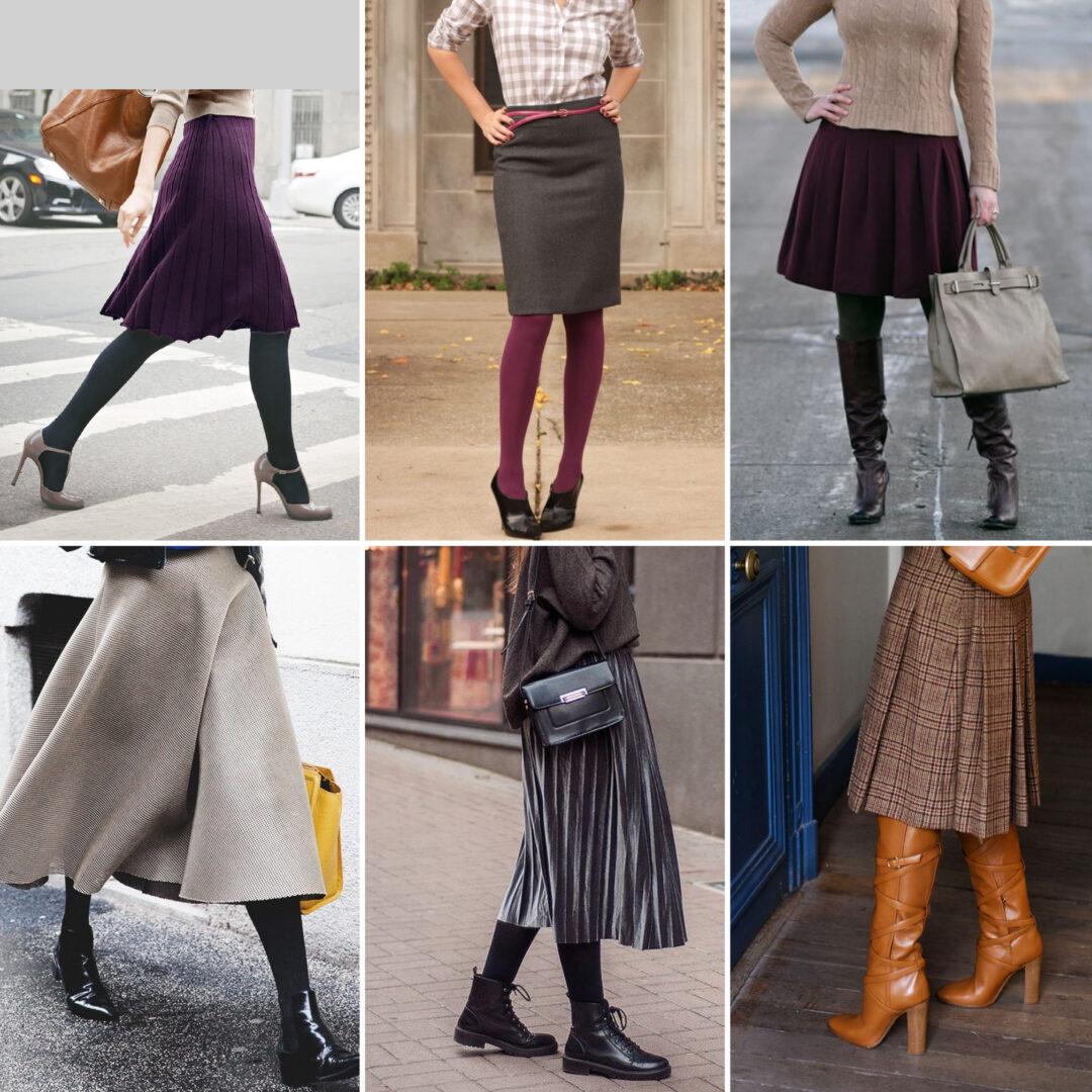 Een rok dragen in de winter, waarom niet?