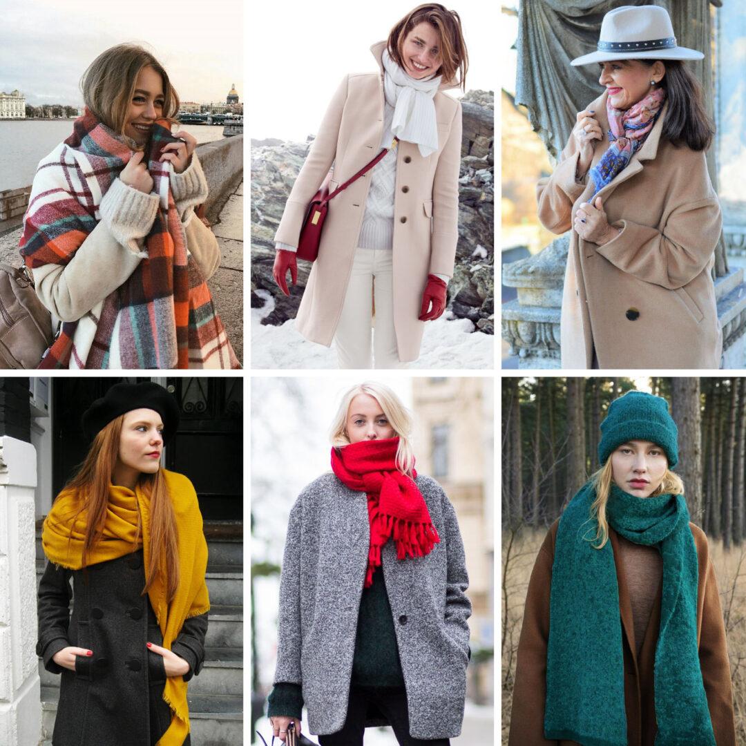 Kleurrijke accessoires combineren met je (saaie) winterjas